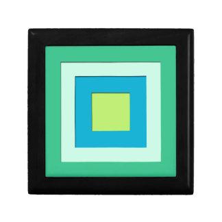 Mid-Century layered squares - jade green Gift Box