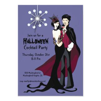 Mid-Century Mod Atomic Halloween Party Invitation