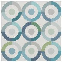 Mid Century Mod Color Block Rings Pattern Fabric