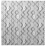 Mid Century Mod Geometric Link Pattern Cloth Napkin