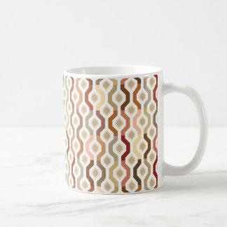 Mid Century Mod Geometric Link Pattern Coffee Mug