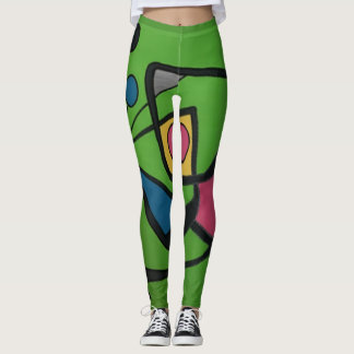 'Mid Century Modern Abstract #4' on a Leggings