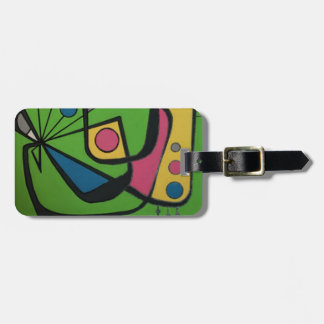 'Mid Century Modern Abstract #4' on a Luggage Tag