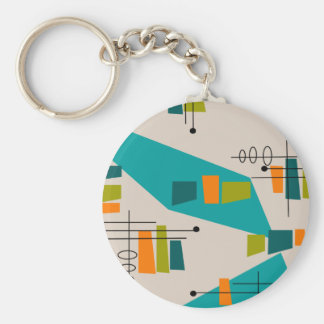 Mid-Century Modern Abstract #55 Keychain