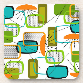 Mid-Century Modern Abstract #57 Beverage Coaster