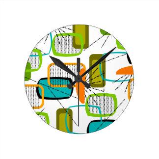 Mid-Century Modern Abstract #57 Round Wallclock