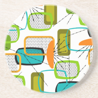 Mid-Century Modern Abstract #57 Coasters