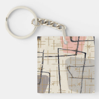 Mid Century Modern Abstract Acrylic Keychain