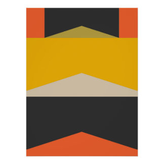 Mid Century Modern Abstract Art Geometric Shapes Poster