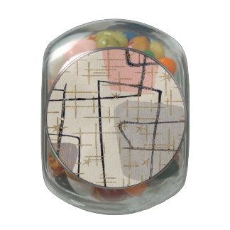 Mid Century Modern Abstract Candy Jar Glass Jar