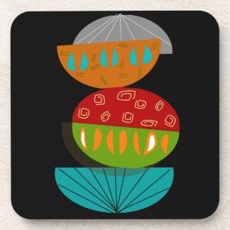 Mid-Century Modern Abstract Coasters