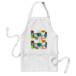 Mid-Century Modern Abstract Design Adult Apron