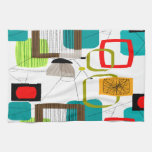 Mid-Century Modern Abstract Design Kitchen Towel