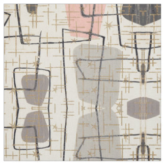 Mid Century Modern Abstract Fabric