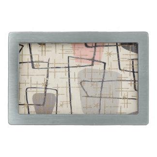Mid Century Modern Abstract Fabric Belt Buckle