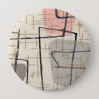 Mid Century Modern Abstract Fabric Button