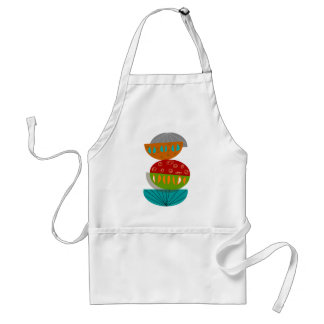 Mid-Century Modern Abstract Half Moons Adult Apron
