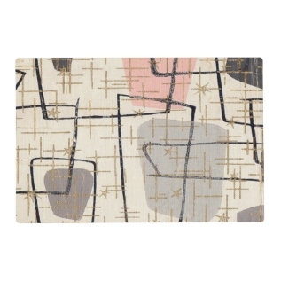 Mid Century Modern Abstract Laminated Placemat at Zazzle