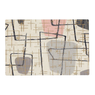 Mid Century Modern Abstract Laminated Placemat