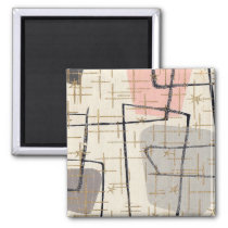 Mid Century Modern Abstract Magnet