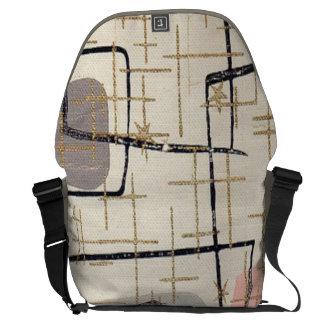 Mid Century Modern Abstract Messenger Bag