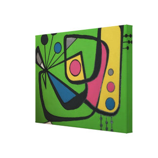 'Mid Century Modern Abstract num 4' on a Canvas Print