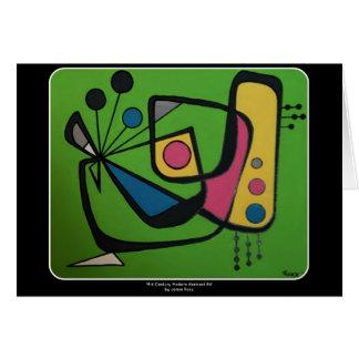 'Mid Century Modern Abstract num 4' on a Card