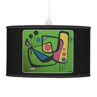 'Mid Century Modern Abstract num 4' on a Ceiling Lamp