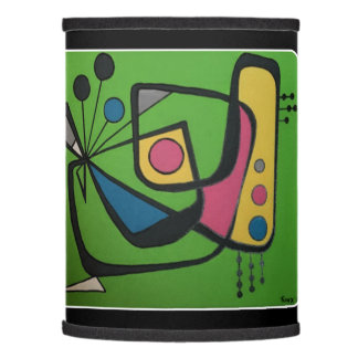 'Mid Century Modern Abstract num 4' on a Lamp Shade