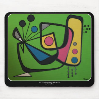 'Mid Century Modern Abstract num 4' on a Mouse Pad