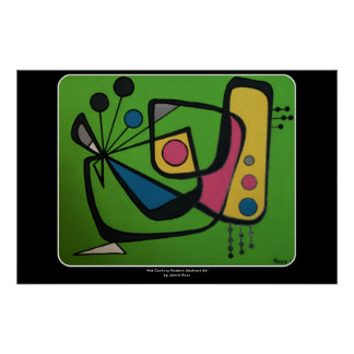 'Mid Century Modern Abstract num 4' on a Poster