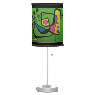 'Mid Century Modern Abstract num 4' on a Table Lamp