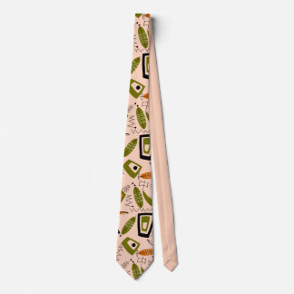 Mid-Century Modern Abstract Tie for Men