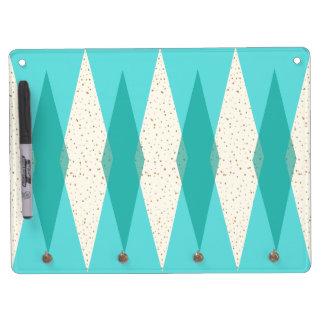 Mid Century Modern Argyle Dry Erase Board