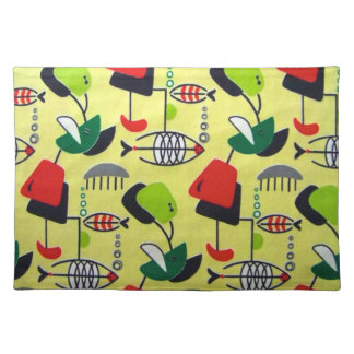 Mid Century Modern Atomic Design Cloth Placemat