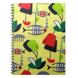Mid Century Modern Atomic Design Spiral Notebook