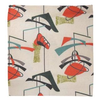 Mid Century Modern Atomic Fabric Bandana
