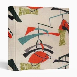 Mid Century Modern Atomic Fabric Binder