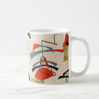 Mid Century Modern Atomic Fabric Coffee Mug