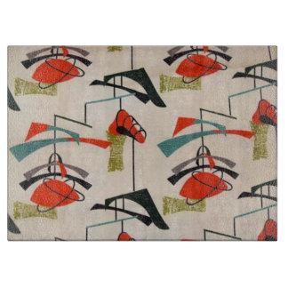 Mid Century Modern Atomic Fabric Cutting Board