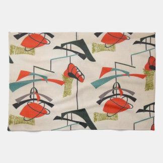 Mid Century Modern Atomic Fabric Kitchen Towel