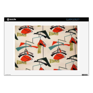 Mid Century Modern Atomic Fabric Laptop Skin