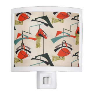 Mid Century Modern Atomic Fabric Night Light
