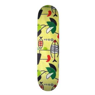 Mid Century Modern Atomic Fish Skateboard