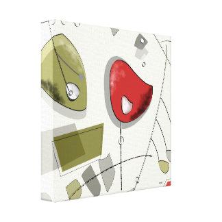 Mid Century Modern Atomic Mobiles Canvas Print