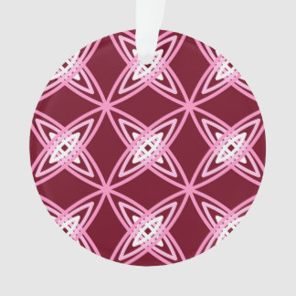 Mid Century Modern Atomic Print - Burgundy Wine