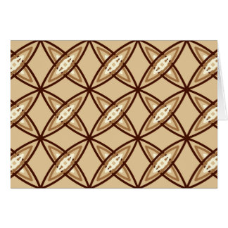 Mid Century Modern Atomic Print - Camel Tan Stationery Note Card