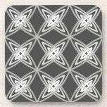 Mid Century Modern Atomic Print - Charcoal Gray Drink Coaster