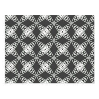 Mid Century Modern Atomic Print - Charcoal Gray Postcard