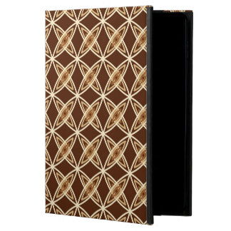 Mid Century Modern Atomic Print - Chocolate Brown Powis iPad Air 2 Case